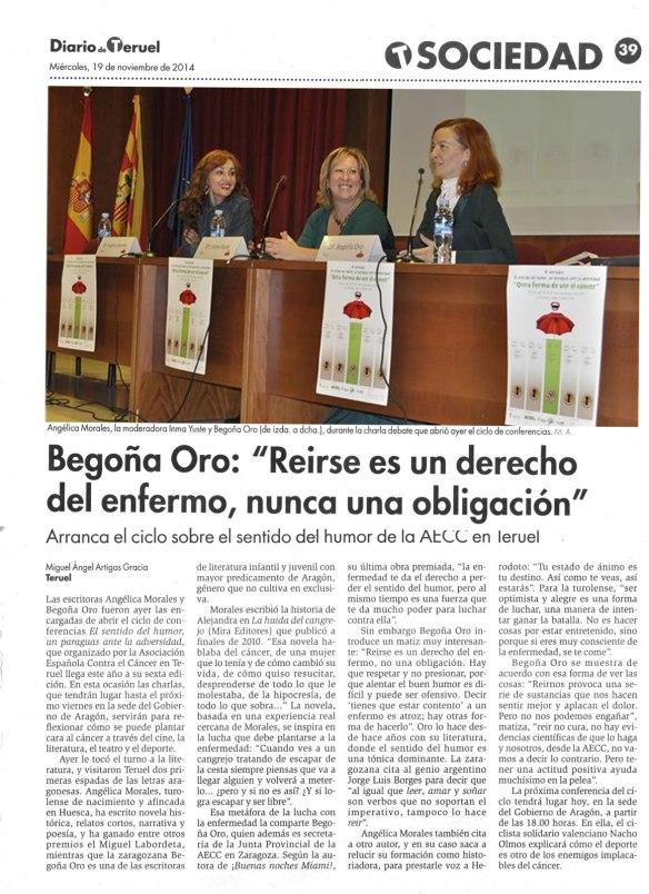 VI Jornadas El sentido del humor Teruel 2014 - Diario de Teruel