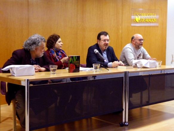 Presentación de la Antología del cuento aragonés contemporáneo. Biblioteca de Aragón 5-11-2014