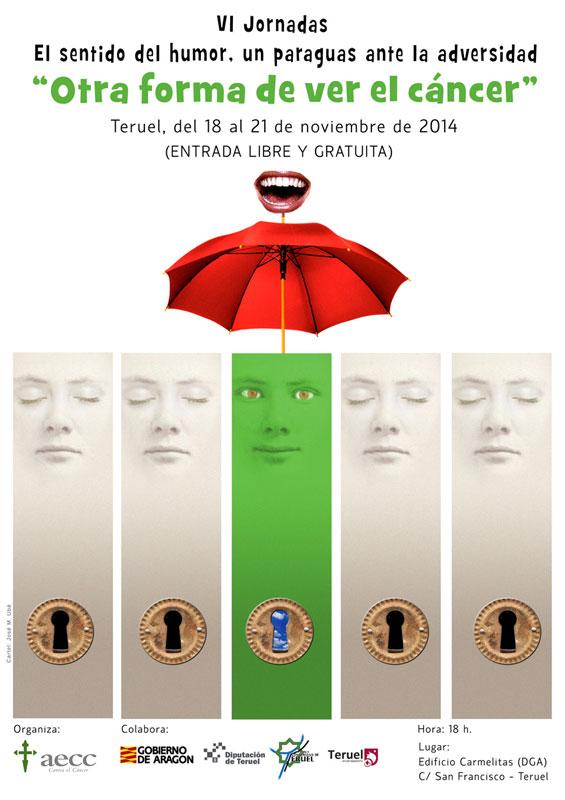 VI Jornadas El sentido del humor Teruel 2014 - Cartel Ubé