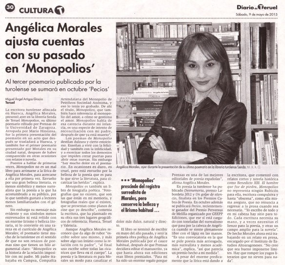 Monopolios en el Diario de Teruel