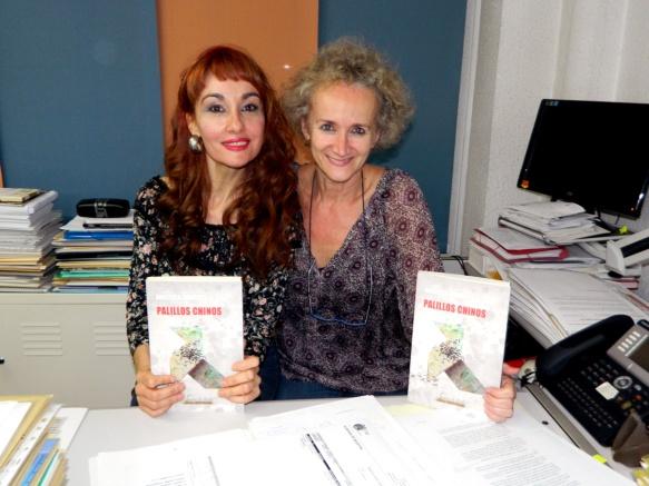 Berta Sariñena y Angélica Morales
