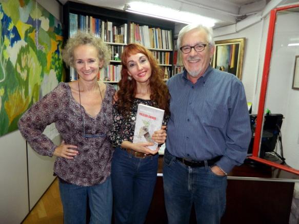 Berta Sariñena, Angélica Morales y Joaquín Casanova