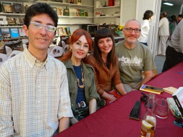 Alejandro Rafael Alagón, Angélica Morales, Estela Puyuelo y Juan José Parcero