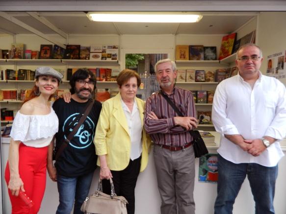 Angélica Morales, José M. Ubé, Juana Buenafé, Javier Aguirre y Miguel Ángel Buj