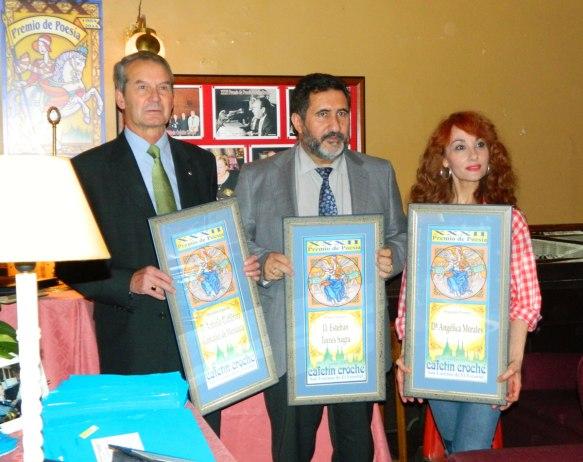 Antonio Gutiérrez, Esteban Torres y Angélica Morales, premiados en el XXXII Premio de Poesía Cafetín Croché