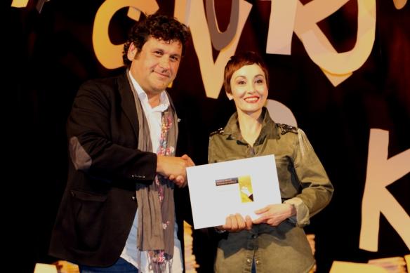 Adolf Bargués y Angélica Morales, 42 Premi Vila de Martorell. Foto: Ajuntament de Martorell