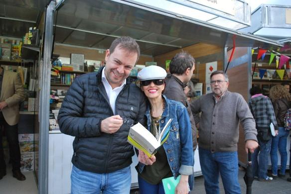 Javier Sierra y Angélica Morales en la Feria del Libro y del Cómic de Teruel 2018