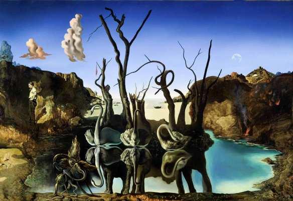Cisnes que se reflejan como elefantes, de Salvador Dalí (1937)