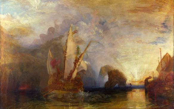 Ulysses Deriding Polyphemus.  Joseph Mallord William Turner. Imagen: Wikipedia