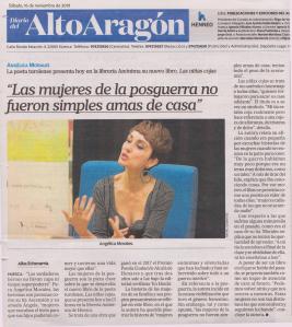 Las niñas cojas, de Angélica Morales en el Diario del Alto Aragón.